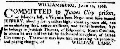 Jul 21 - Virginia Gazette Purdie and Dixon Slavery 3