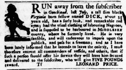 Jul 21 - Virginia Gazette Purdie and Dixon Slavery 5
