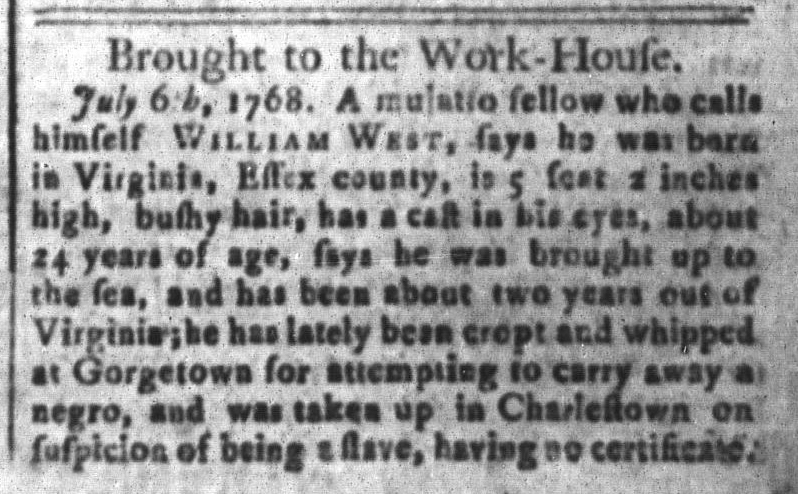 Jul 22 - South Carolina and American General Gazette Slavery 2
