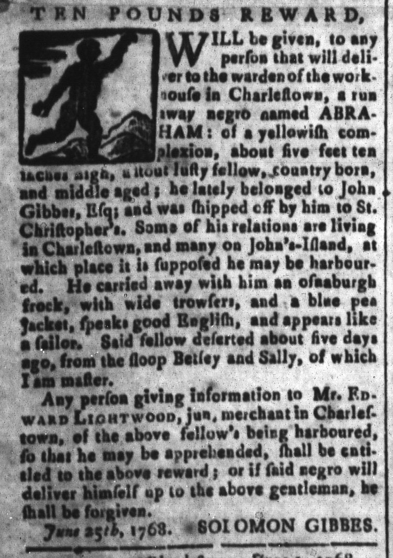Jul 22 - South Carolina and American General Gazette Slavery 3