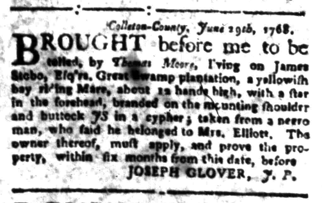 Jul 25 - South-Carolina Gazette Slavery 12