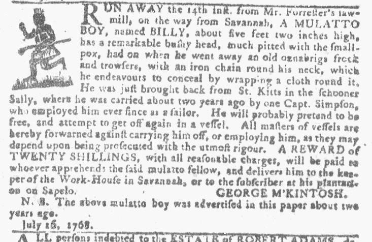 Jul 27 - Georgia Gazette Slavery 10