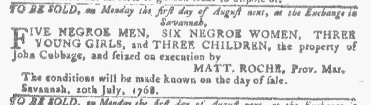 Jul 27 - Georgia Gazette Slavery 12