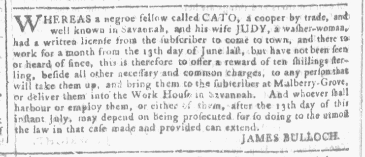 Jul 27 - Georgia Gazette Slavery 5