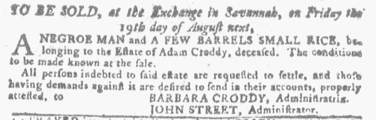 Jul 27 - Georgia Gazette Slavery 8