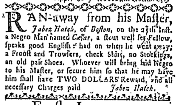 Jul 28 - Massachusetts Gazette Draper Slavery 2