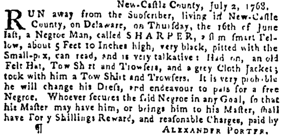 Jul 28 - Pennsylvania Gazette Supplement Slavery 3