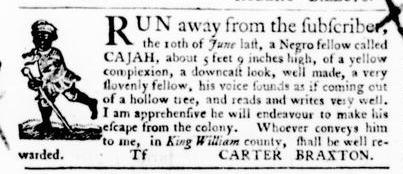 Jul 28 - Virginia Gazette Purdie and Dixon Slavery 2