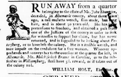 Jul 28 - Virginia Gazette Purdie and Dixon Slavery 3