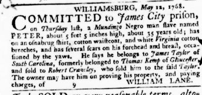 Jul 28 - Virginia Gazette Purdie and Dixon Slavery 9