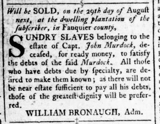 Jul 28 - Virginia Gazette Rind Slavery 3