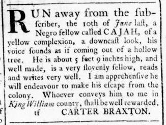 Jul 28 - Virginia Gazette Rind Slavery 5