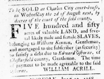 Jul 28 - Virginia Gazette Rind Slavery 6