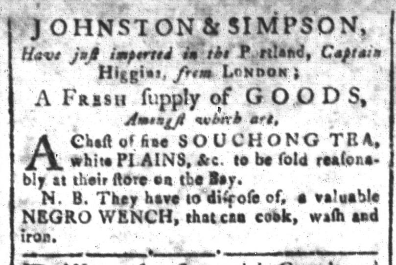 Jul 29 - South Carolina and American General Gazette Slavery 2