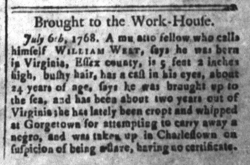Jul 29 - South Carolina and American General Gazette Slavery 7