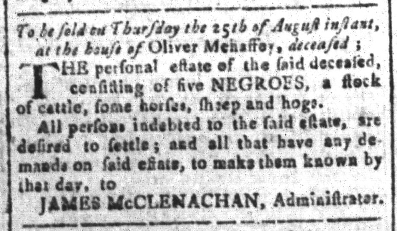 Aug 12 - South-Carolina and American General Gazette Slavery 11