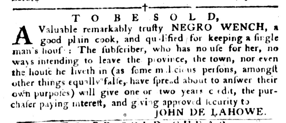 Aug 16 - South-Carolina Gazette and Country Journal Supplement Slavery 3