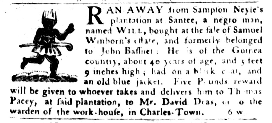 Aug 16 - South-Carolina Gazette and Country Journal Supplement Slavery 4
