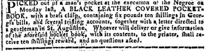 Aug 17 - Georgia Gazette Slavery 13