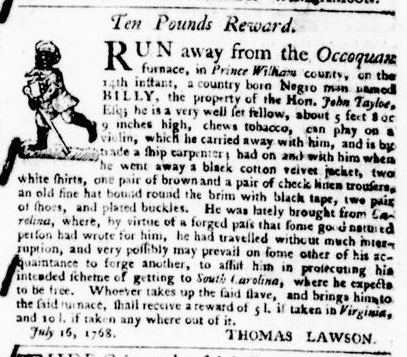 Aug 18 - Virginia Gazette Purdie and Dixon Slavery 6