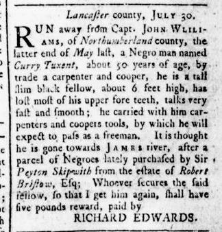 Aug 18 - Virginia Gazette Rind Slavery 4