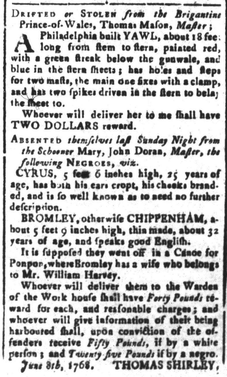 Aug 19 - South-Carolina and American General Gazette Slavery 2