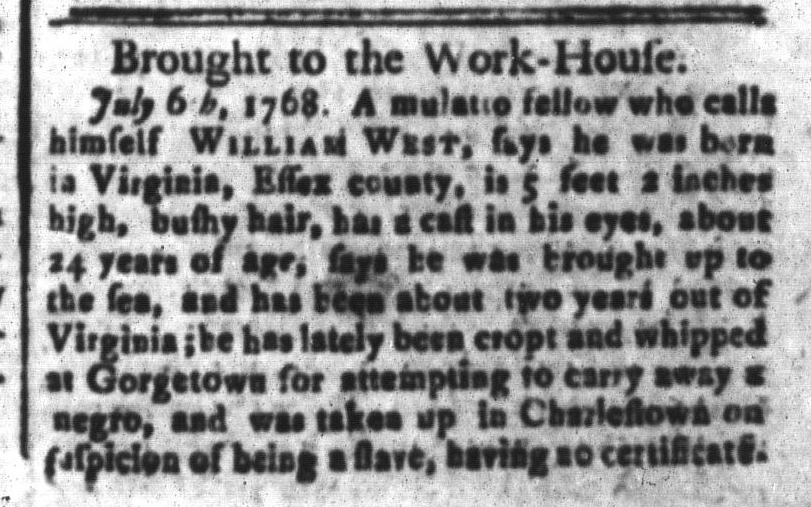 Aug 19 - South-Carolina and American General Gazette Slavery 4