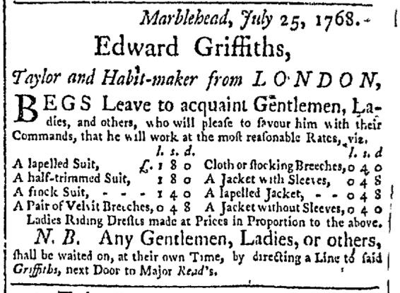 Aug 2 - 8:2:1768 Essex Gazette