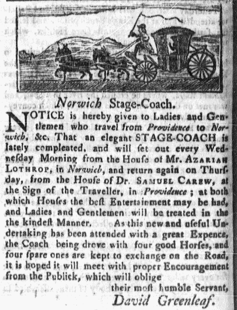 Aug 22 - 8:22:1768 Massachusetts Gazette Green and Russell