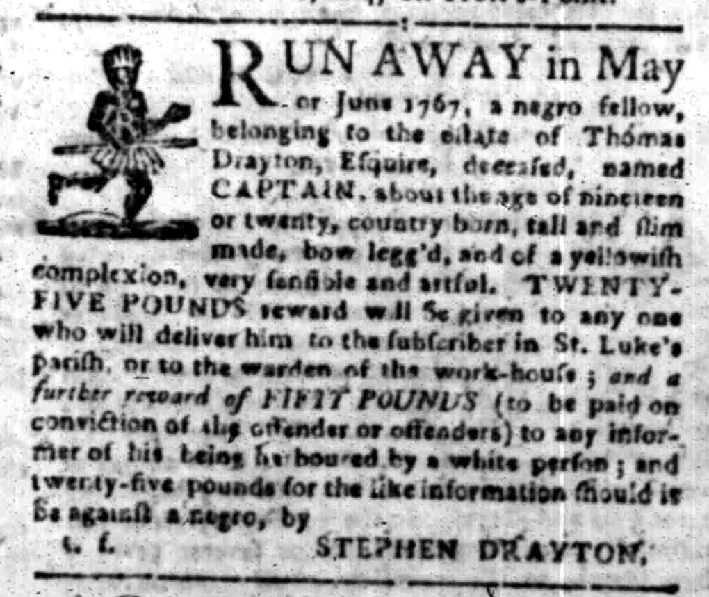 Aug 22 - South-Carolina Gazette Slavery 1