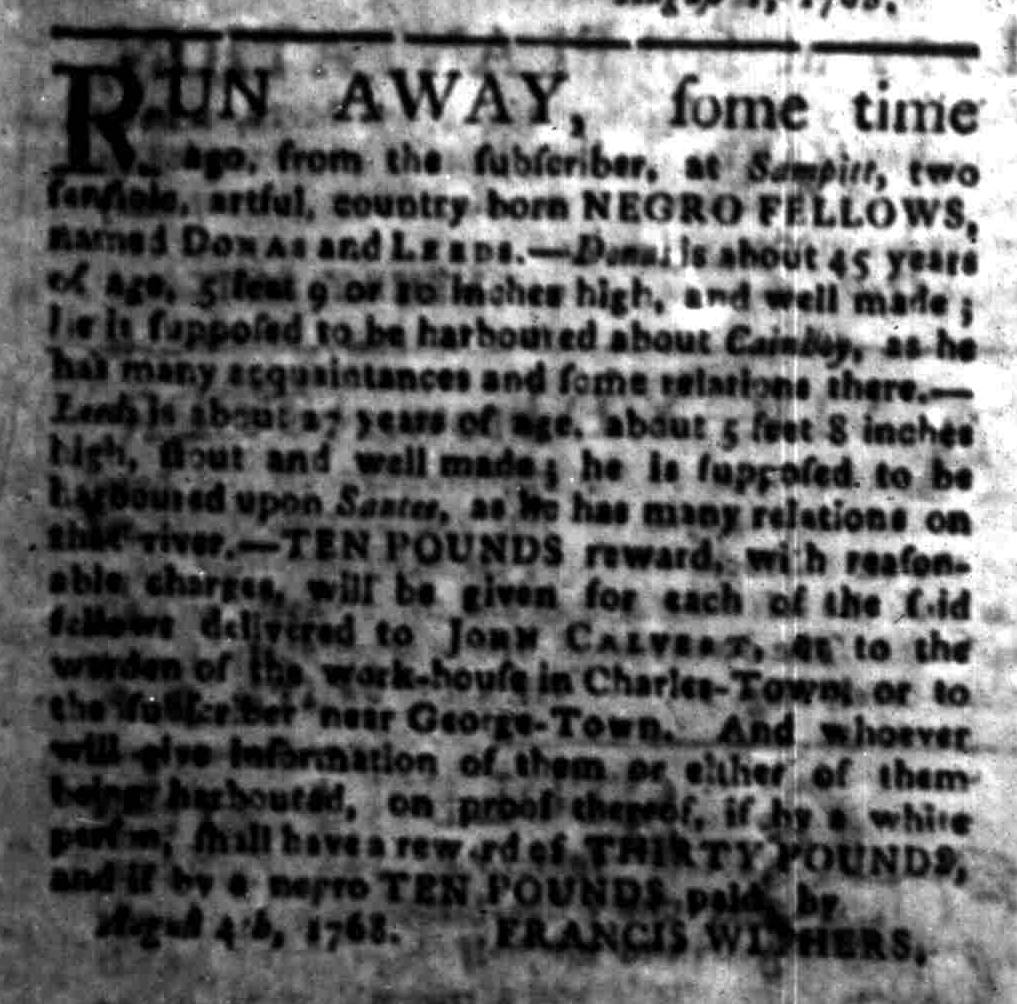 Aug 22 - South-Carolina Gazette Slavery 10