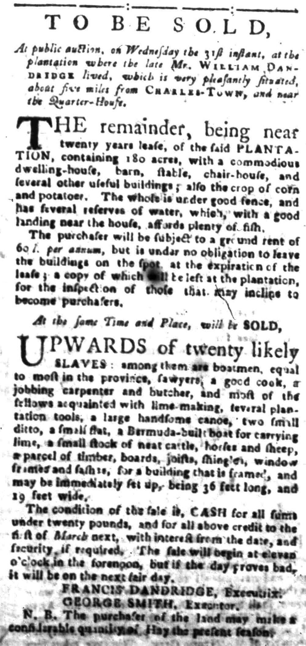 Aug 22 - South-Carolina Gazette Slavery 12