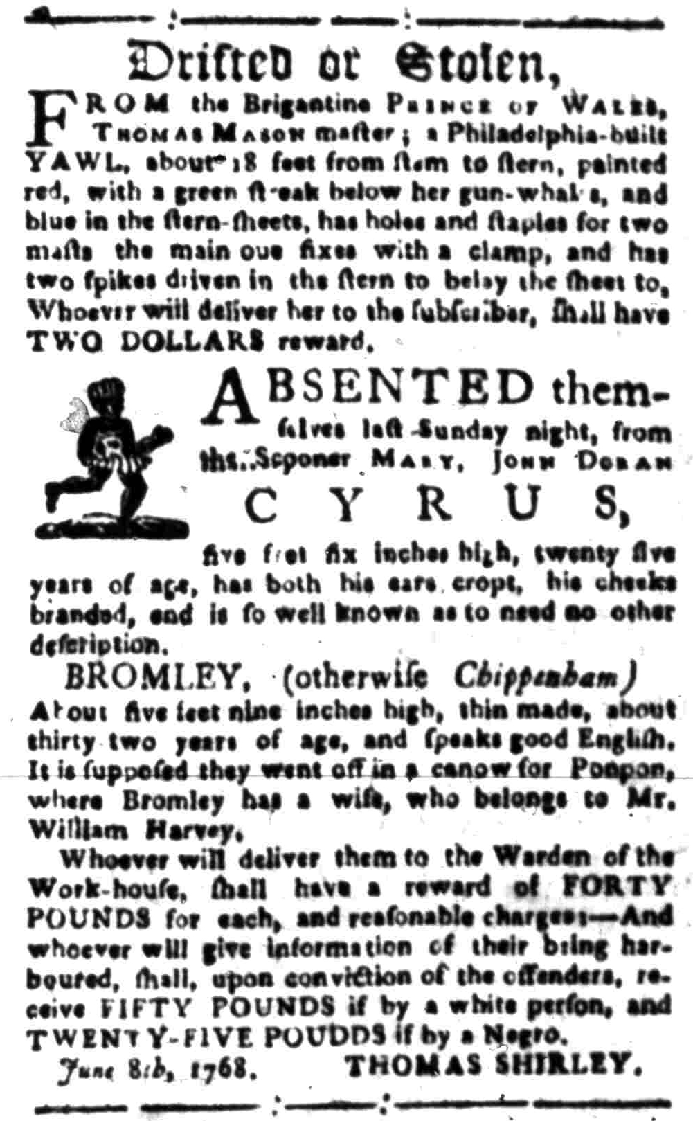 Aug 22 - South-Carolina Gazette Slavery 4