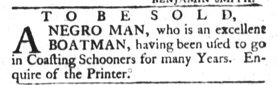 Aug 23 - South-Carolina Gazette and Country Journal Slavery 1