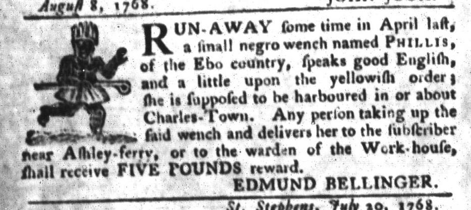 Aug 23 - South-Carolina Gazette and Country Journal Slavery 3