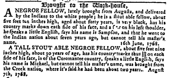 Aug 24 - Georgia Gazette Slavery 10