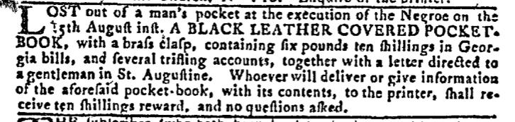 Aug 24 - Georgia Gazette Slavery 9