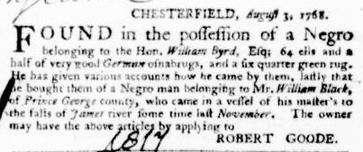 Aug 25 - Virginia Gazette Purdie and Dixon Slavery 3