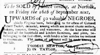 Aug 25 - Virginia Gazette Purdie and Dixon Slavery 4