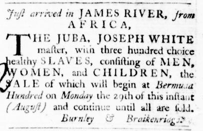 Aug 25 - Virginia Gazette Purdie and Dixon Slavery 6