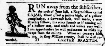 Aug 25 - Virginia Gazette Purdie and Dixon Slavery 8