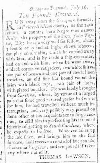 Aug 25 - Virginia Gazette Rind Slavery 10