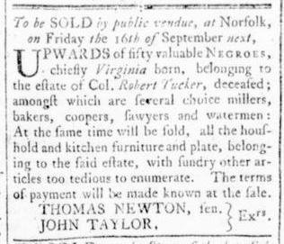 Aug 25 - Virginia Gazette Rind Slavery 2