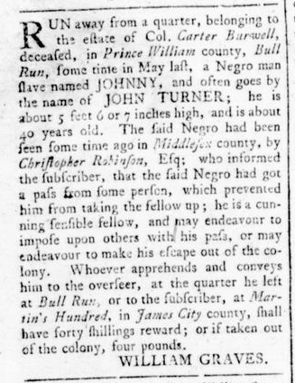 Aug 25 - Virginia Gazette Rind Slavery 7
