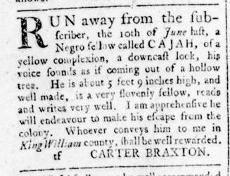 Aug 25 - Virginia Gazette Rind Slavery 9