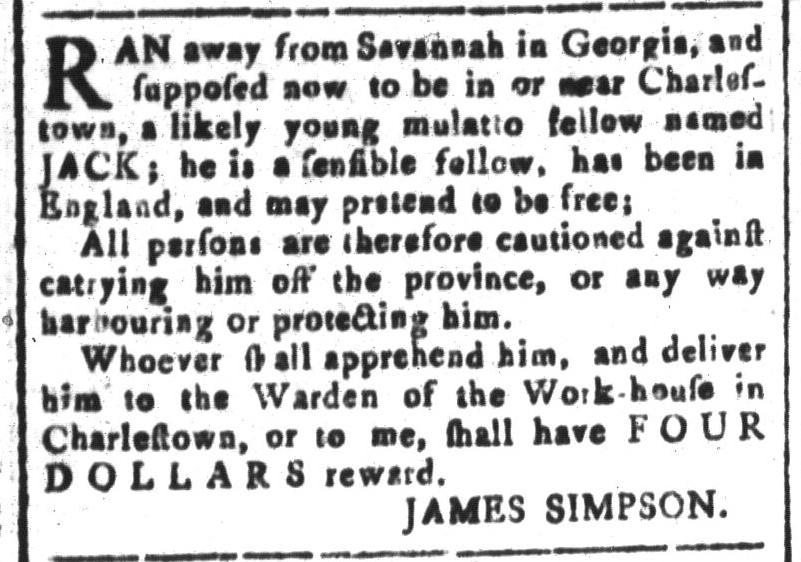 Aug 26 - South-Carolina and American General Gazette Slavery 4