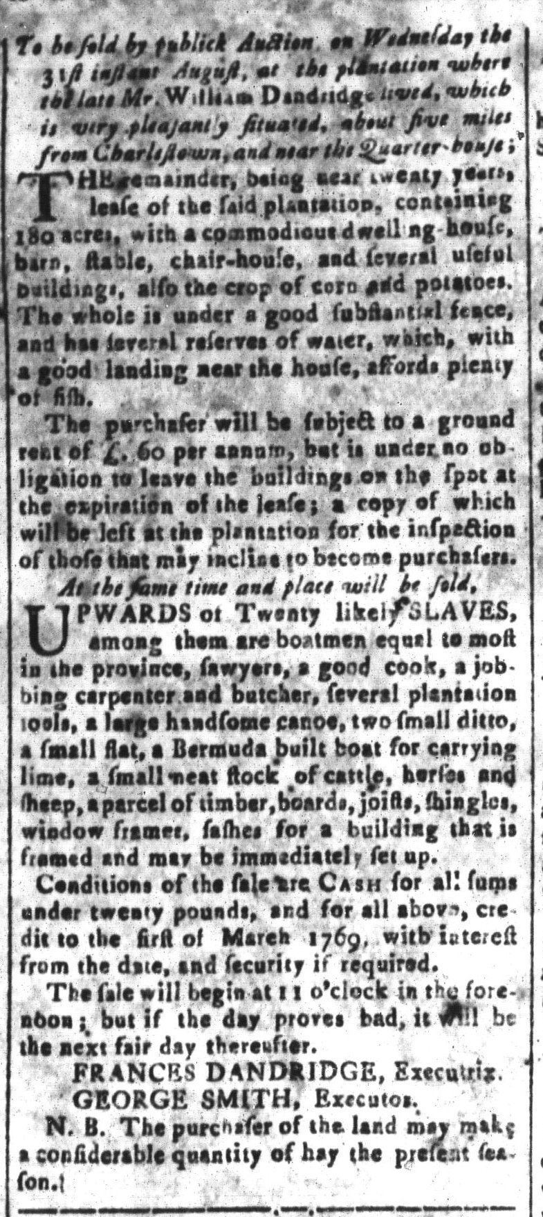 Aug 26 - South-Carolina and American General Gazette Slavery 7