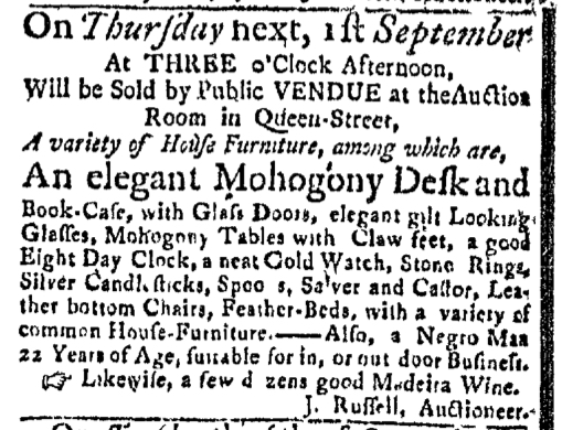 Aug 29 - Massachusetts Gazette Slavery 1