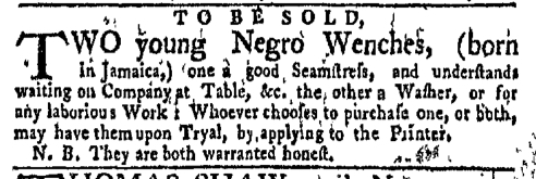 Aug 29 - New-York Gazette Weekly Mercury Supplement Slavery 1