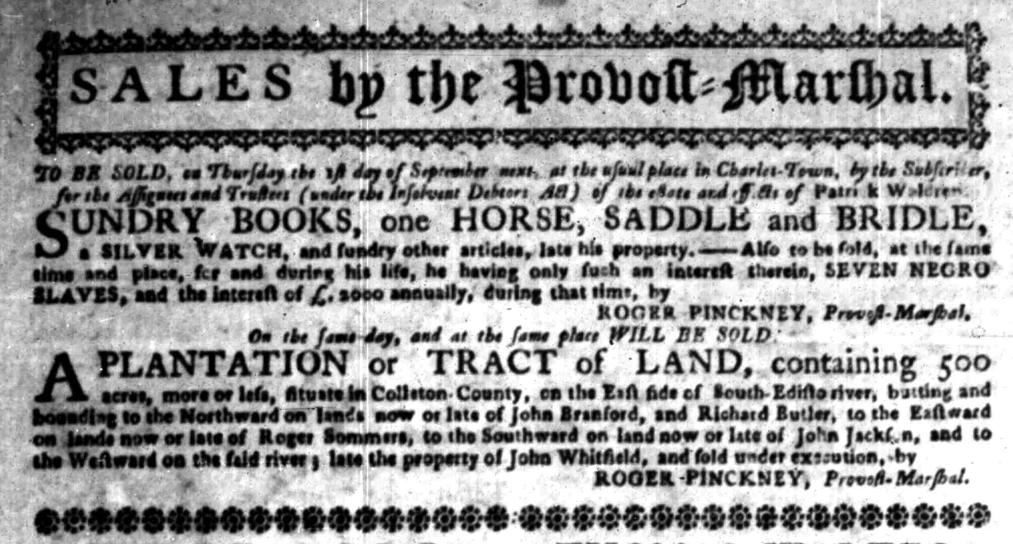 Aug 29 - South-Carolina Gazette Slavery 6